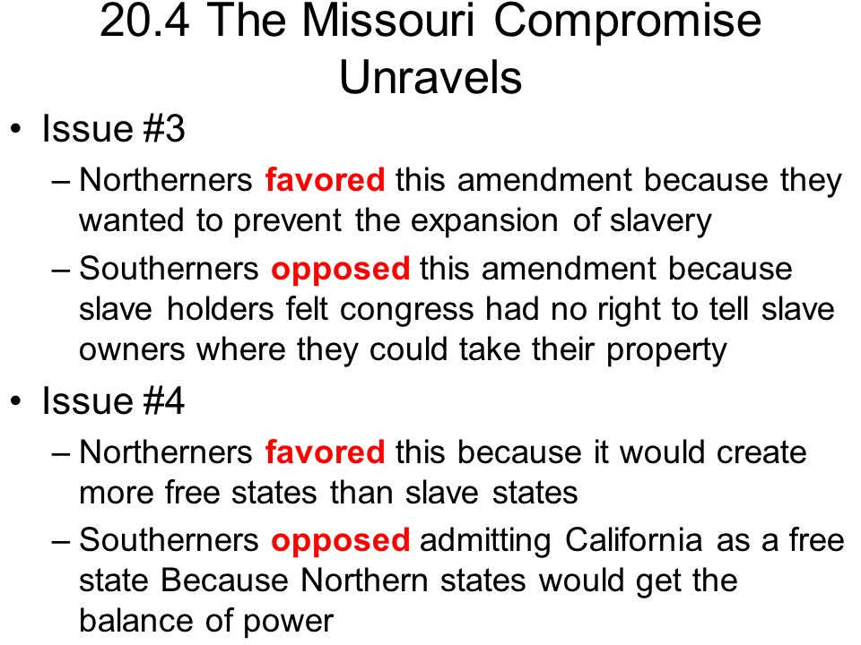 Precivil War Worksheets ppt download – Missouri Compromise Worksheet