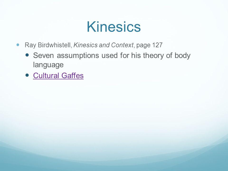 essays on kinesics