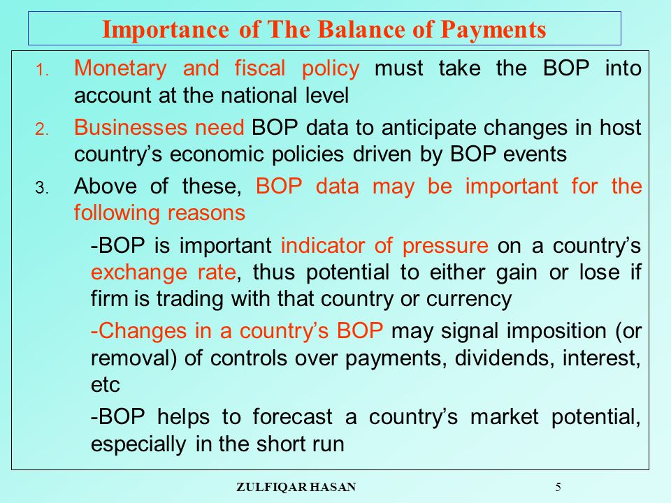 importance of balance of payment pdf