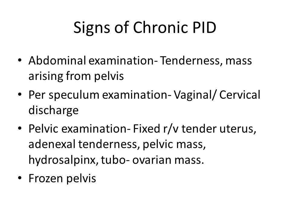 Severe pelvic pain polypectomy vaginal discharge