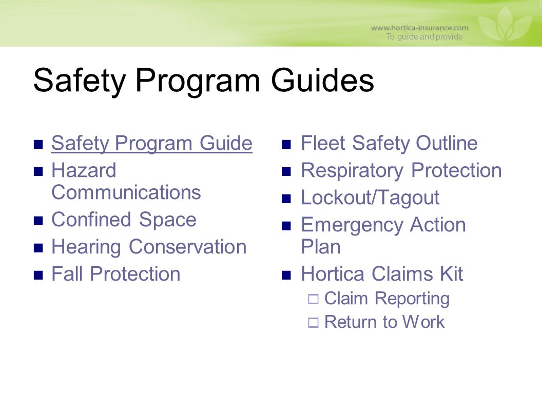 Loss Control & Safety Services - ppt download