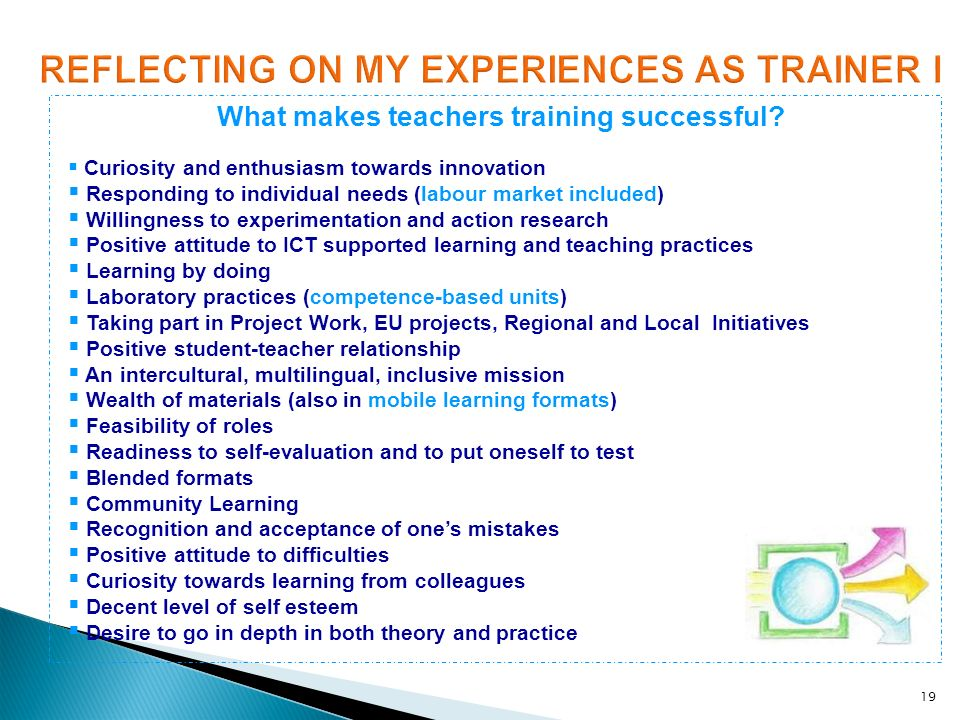 REFLECTING ON MY EXPERIENCES AS TRAINER I
