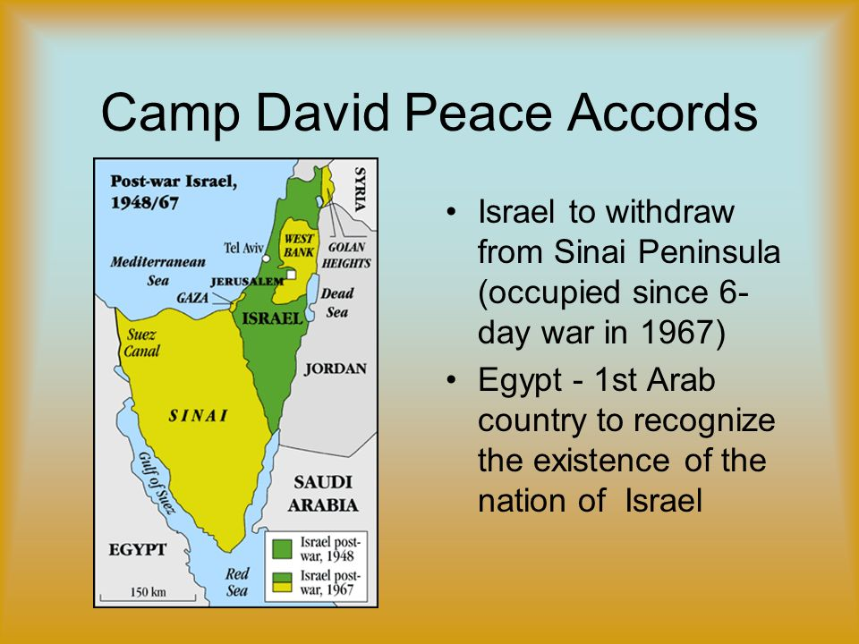 an introduction to the camp david accords An analysis relations between the us and  which resulted from the introduction of israel's  and israel's menachem begin leading to the camp david accords,.