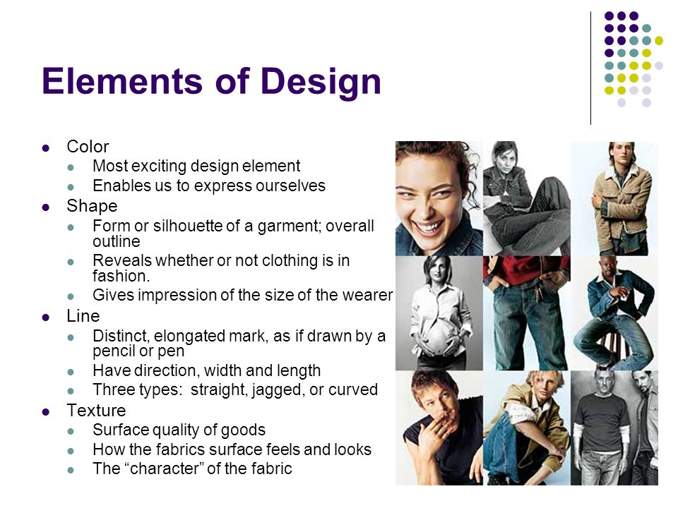 Elements Of Design In Clothing : More elements of design ppt video online download