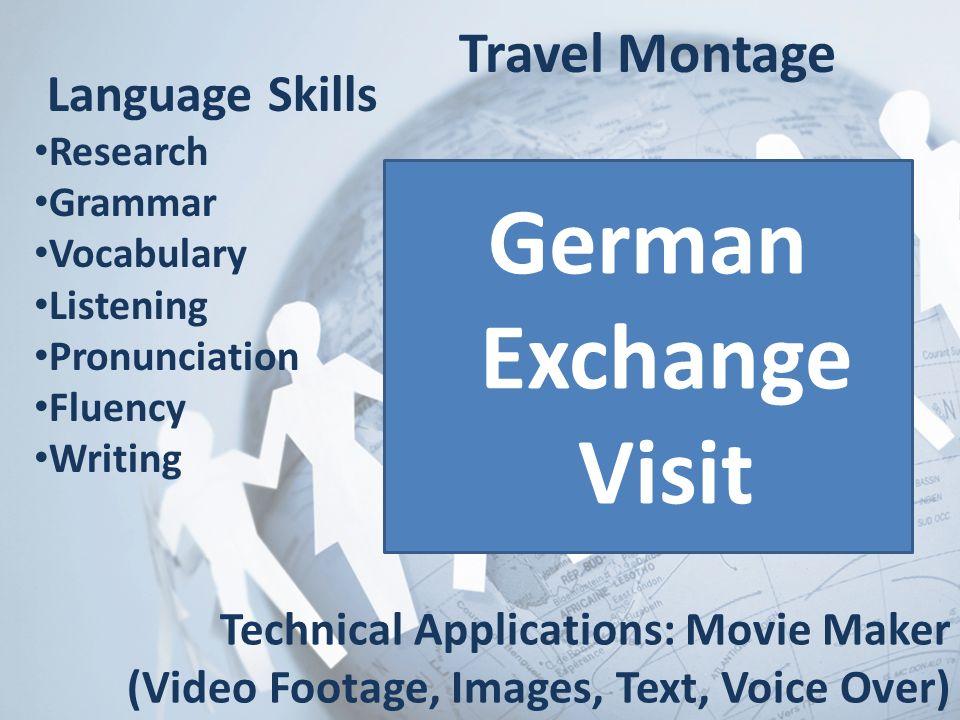 German Exchange Visit Travel Montage Language Skills