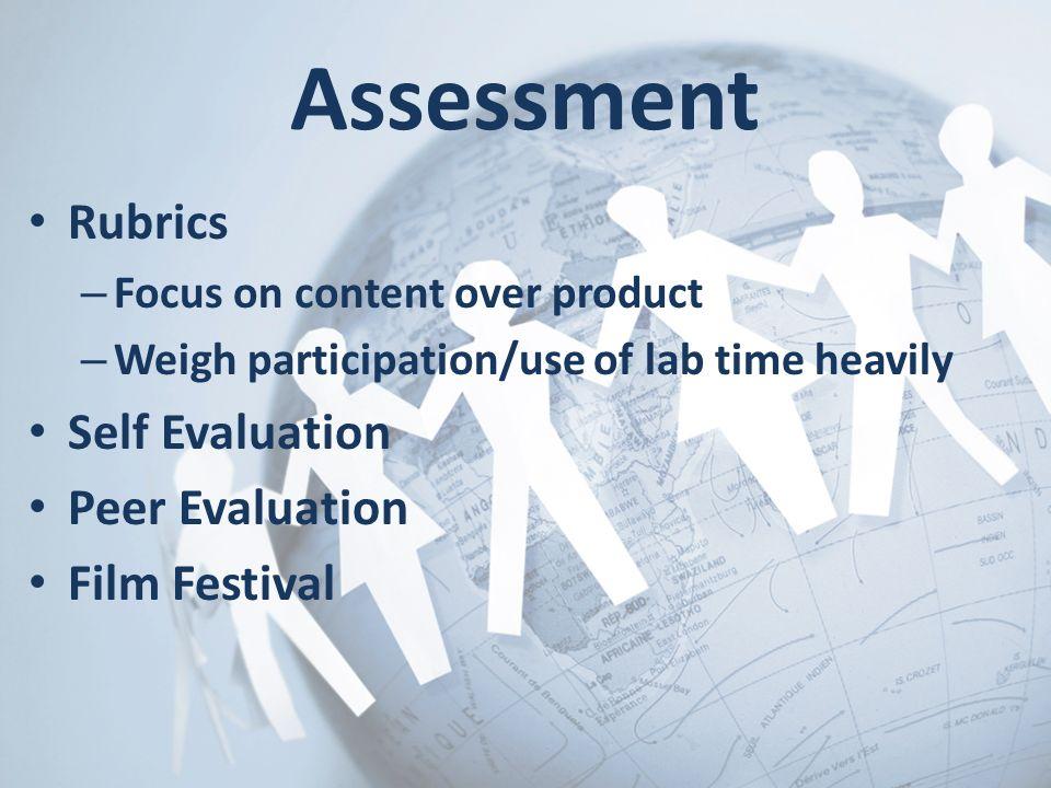 Assessment Rubrics Self Evaluation Peer Evaluation Film Festival