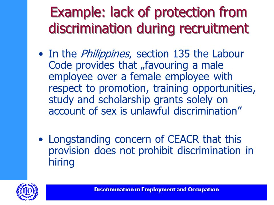 disability discrimination and lack of equal