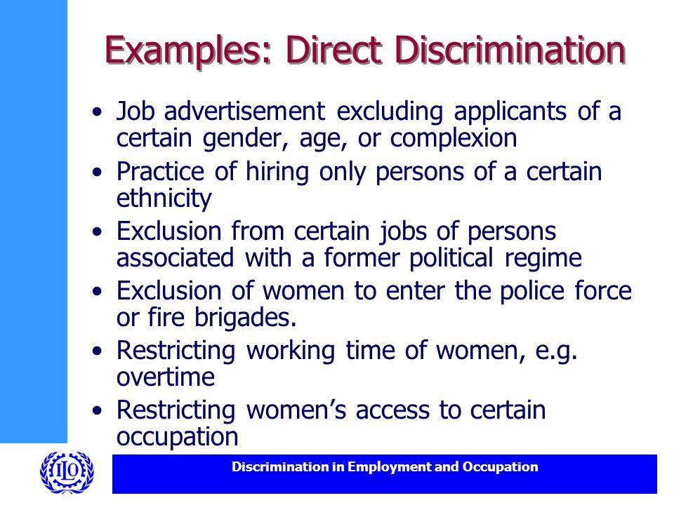 discrimination exemple