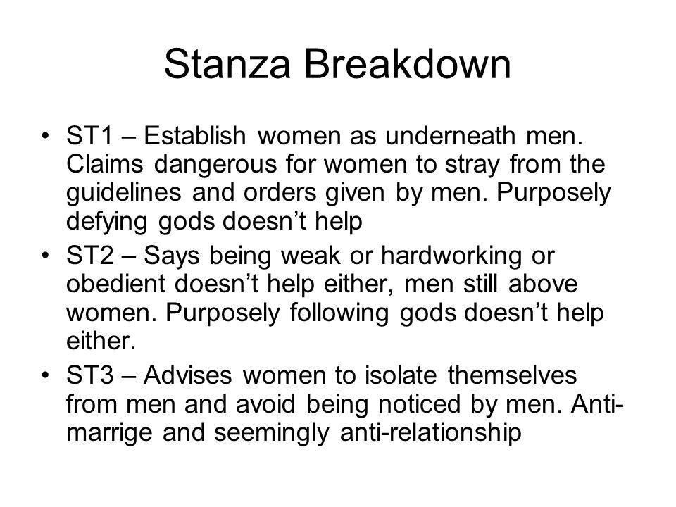 Stanza Breakdown