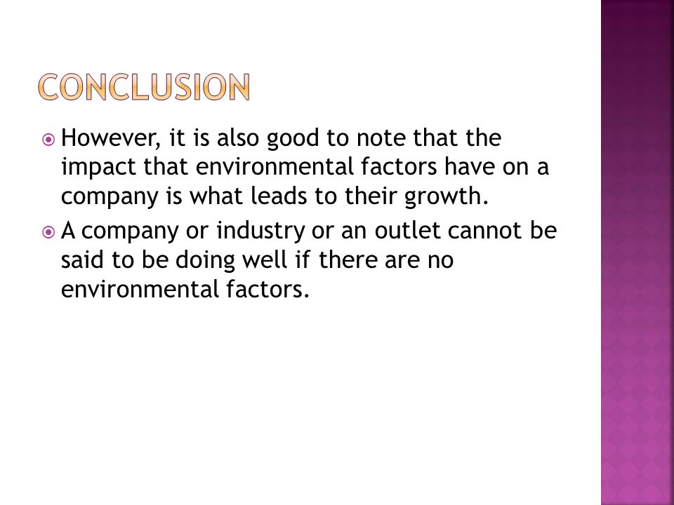 business environment conclusion Session introduction to international business environment 2 international business: international business when business activities are performed on an international level, these can be termed as international business.