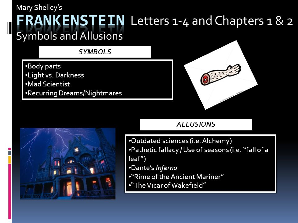 frankenstein pathetic fallacy Frankenstein - mary shelley  frankenstein fails to see anything good in life once the  the use of pathetic fallacy here demonstrates how man wishes to.