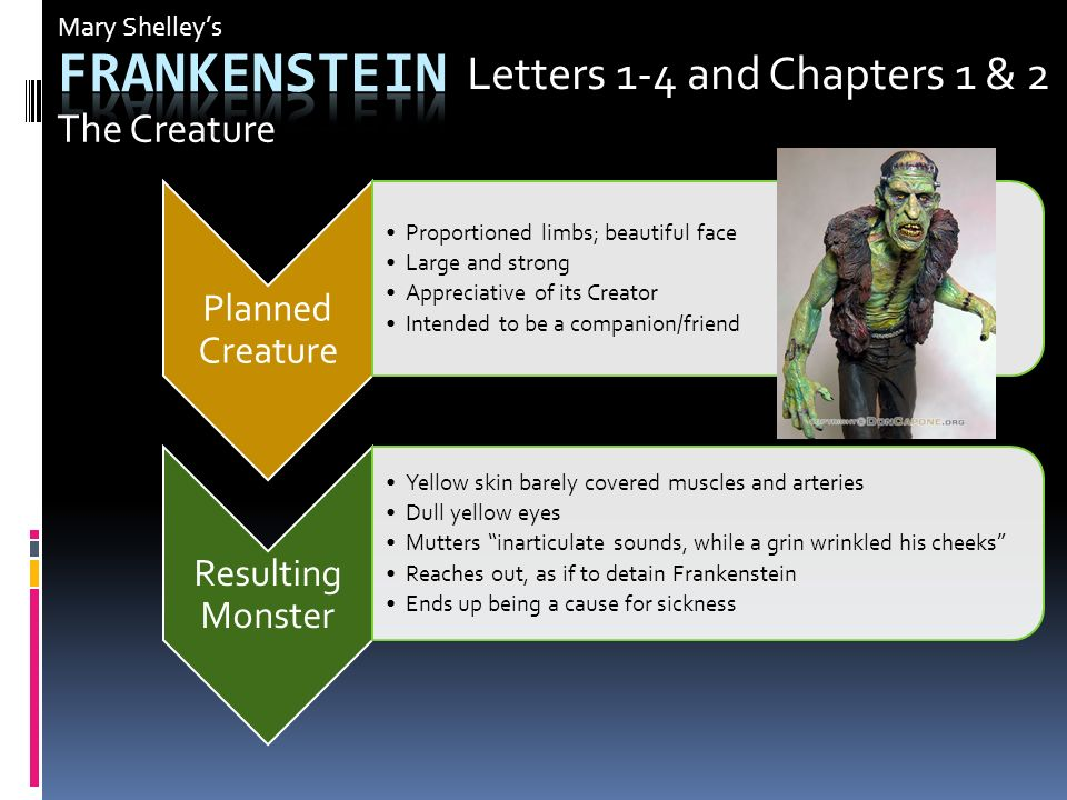 frankenstein chapter 5 Yeah, there are two editions, and the new annotated frankenstein uses the 1818 text if you are reading the 1831 text, which is slightly different, that's totally fine, because the annotated edition talks about the textual changes, so we can all talk about it and fight over which one's better.