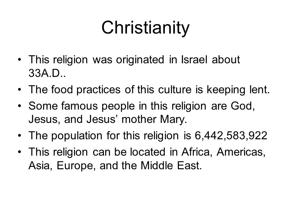 The great religions of the middle east ppt download christianity this religion was originated in israel about 33ad sciox Image collections