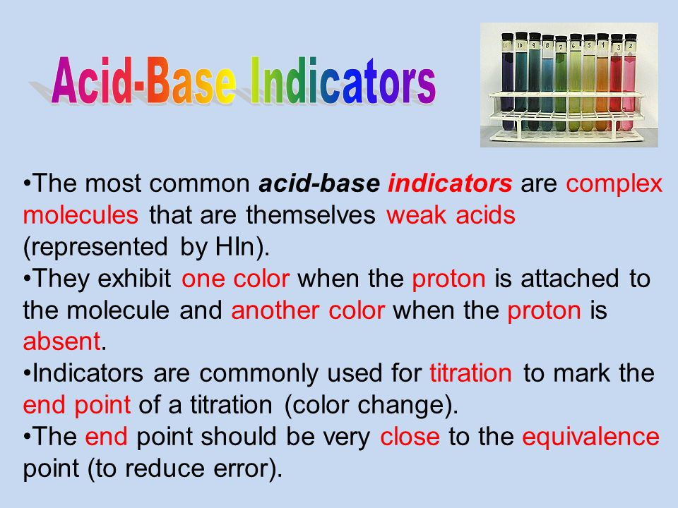 acid base indicator This is the definition of acid-base indicator or indicator as the term is used in  chemistry, along with examples of common indicators.