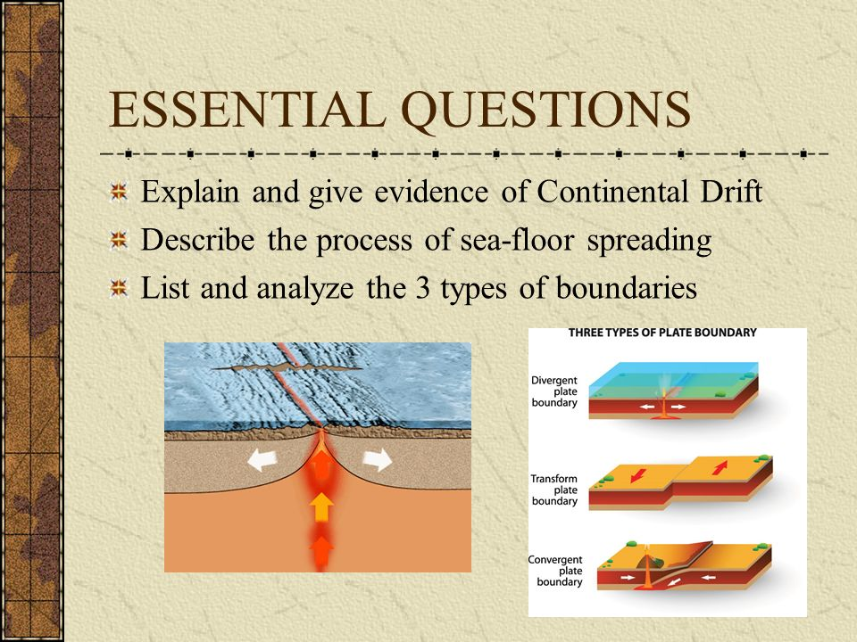 ESSENTIAL QUESTIONS Explain And Give Evidence Of Continental Drift