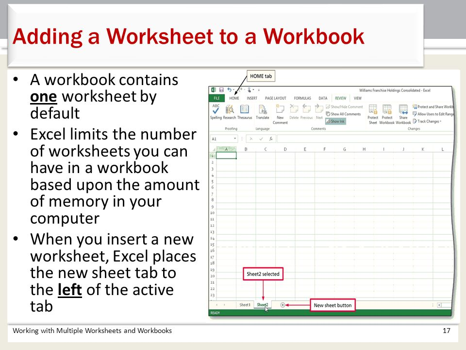 Chapter 5 Working with Multiple Worksheets and Workbooks - ppt ...