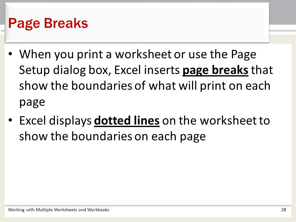 Chapter 5 Working with Multiple Worksheets and Workbooks ppt – Boundaries Worksheets
