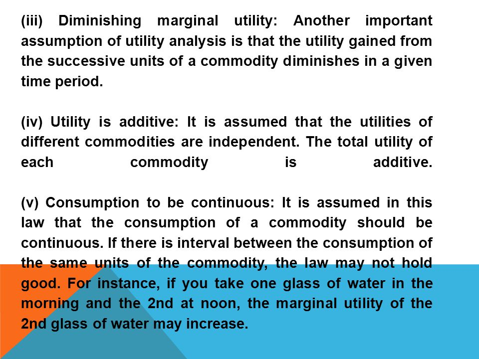 what is the principle of utility In the context of cardinal utility, economists sometimes speak of a law of diminishing marginal utility  especially by way of his principles of economics.