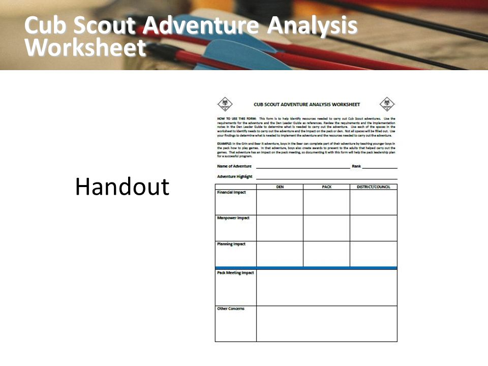 Program Planning and New Pack Meeting Plans ppt download – Cub Scout Belt Loop Worksheet