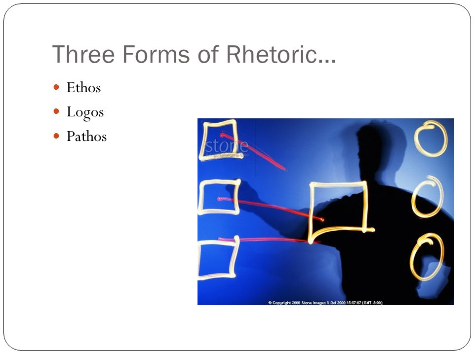 Three Forms of Rhetoric…