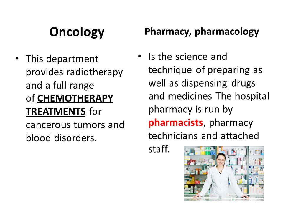 Pharmacy, pharmacology
