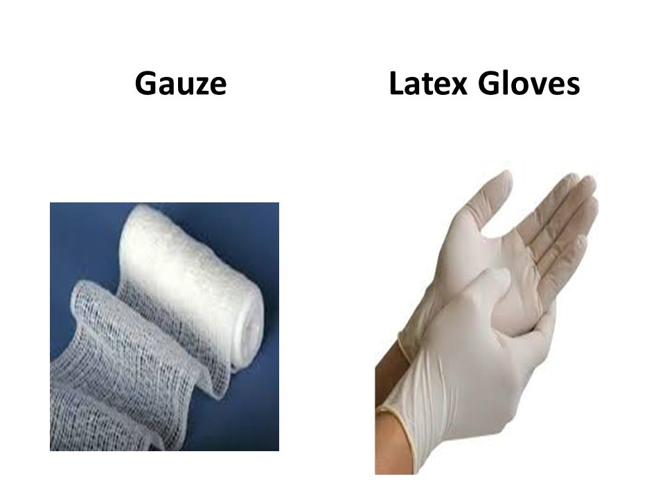 Gauze Latex Gloves