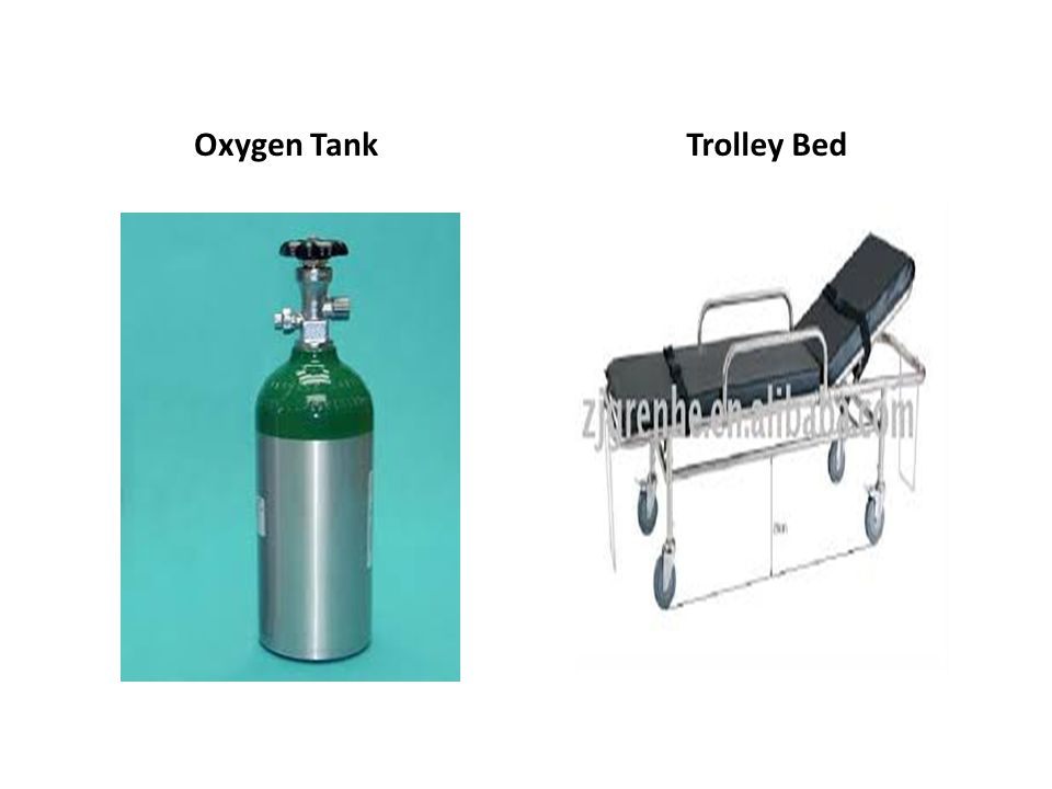 Oxygen Tank Trolley Bed