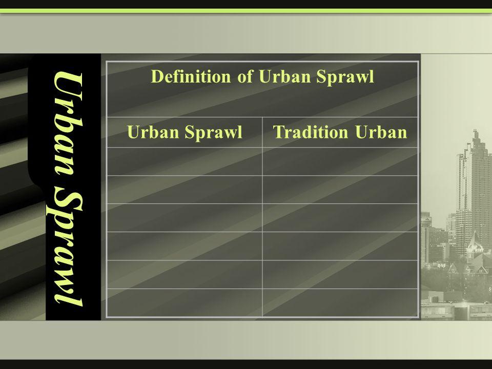 Urban sprawl ppt video online download definition of urban sprawl malvernweather Gallery