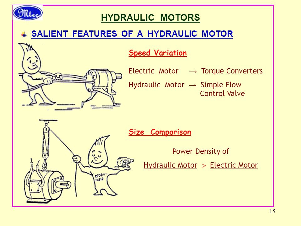 Hydraulic Motor  Electric Motor