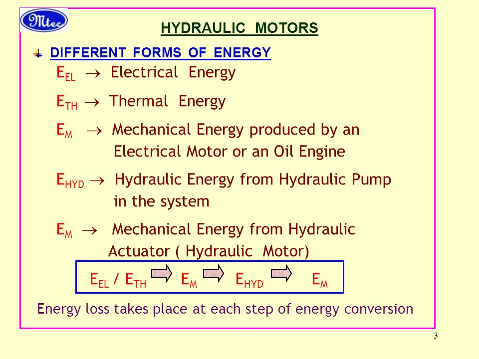 EEL  Electrical Energy ETH  Thermal Energy