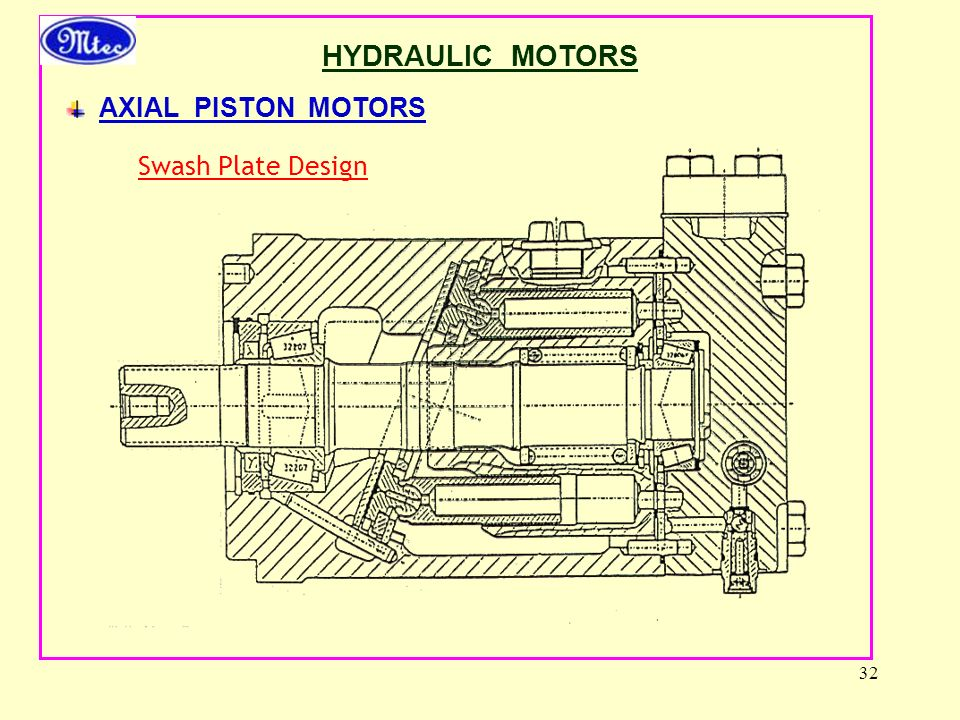 HYDRAULIC MOTORS AXIAL PISTON MOTORS Swash Plate Design