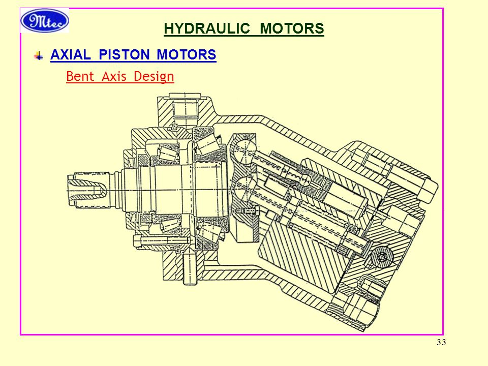 HYDRAULIC MOTORS AXIAL PISTON MOTORS Bent Axis Design