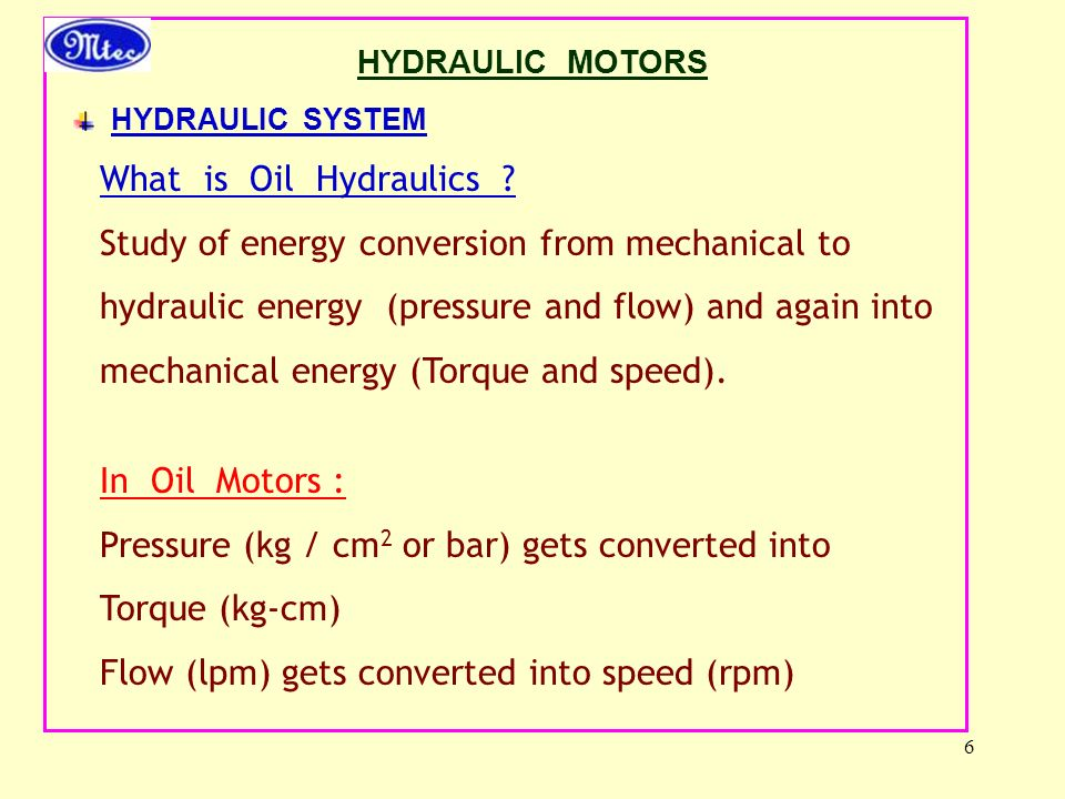 Study of energy conversion from mechanical to