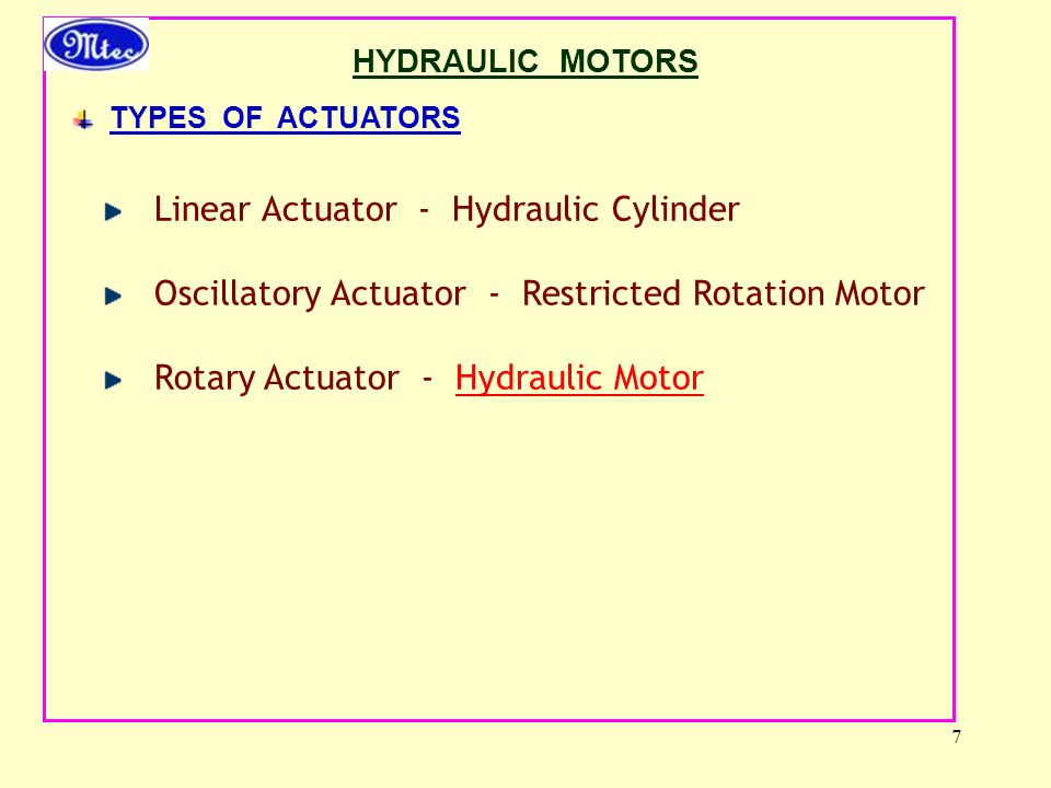 Linear Actuator - Hydraulic Cylinder