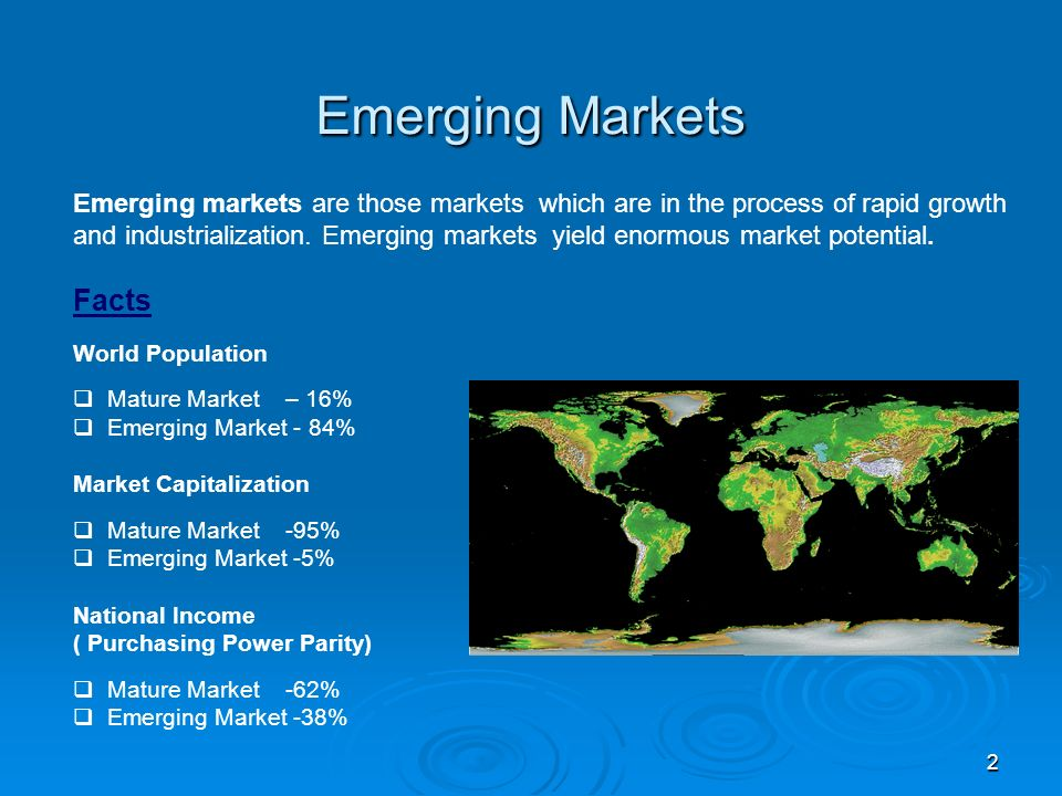 Characteristics of the world regional markets