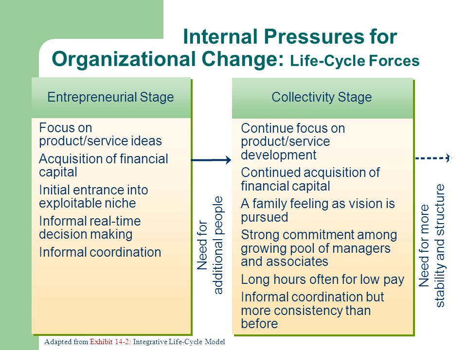 internal and external forces in organizational change Every organization has its own culture almost everything that affects an organization's ability to compete and respond successfully to changes in the external.
