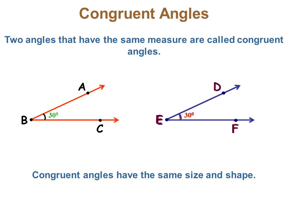 how to show congruent angles