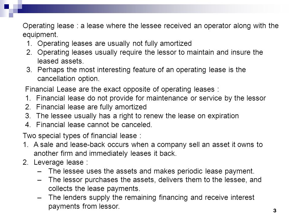 Leasing Corporation Lease Both Short Term And Long Term Rental