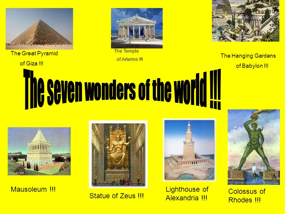 The Seven Wonders Of World