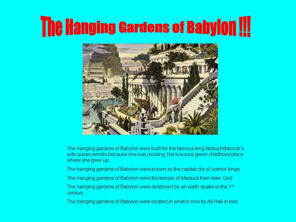 The seven wonders of the world ppt video online download for When was the hanging gardens of babylon destroyed