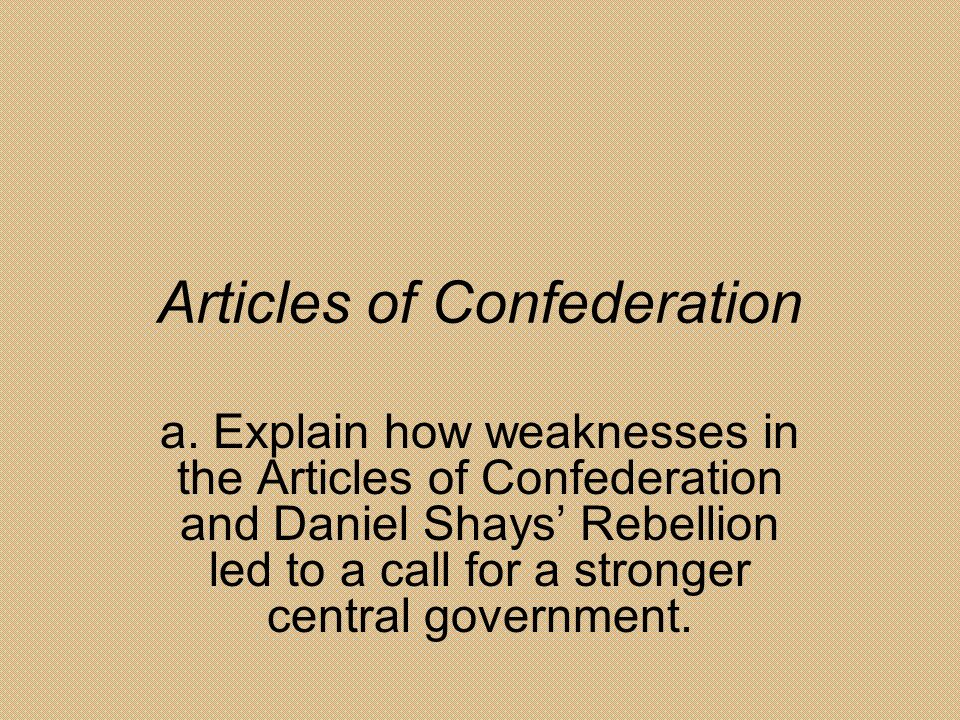 a history of the articles of confederation and the constitution History the articles of confederation, the united states' first constitution, was written during a time when the american people feared strong national governments the new nation needed some kind of organization to hold states together to help them fend off future attacks and hopefully make a stronger economy, and the.