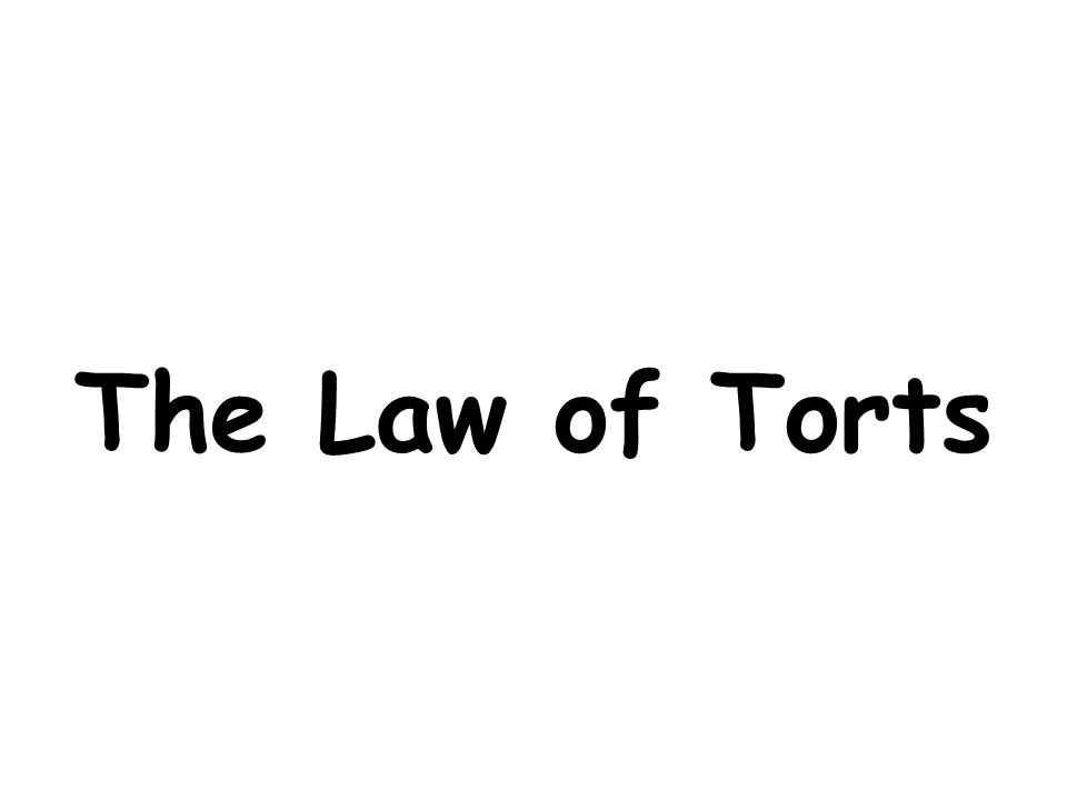 law of torts pdf download