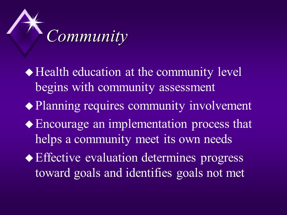community teaching plan community presentation Buy and download  description nrs-427v week 5 community teaching plan: community presentation [11 slides + speaker notes] concepts in community.