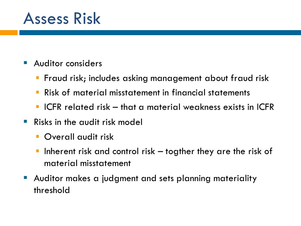 the fraud risk model and auditing The following links to resources can help increase an auditor's awareness of possible audit risk factors, as well as their responsibilities for audit planning, executing, reporting, and referring the matter to the appropriate investigative organization when an audit identifies fraud indicators.