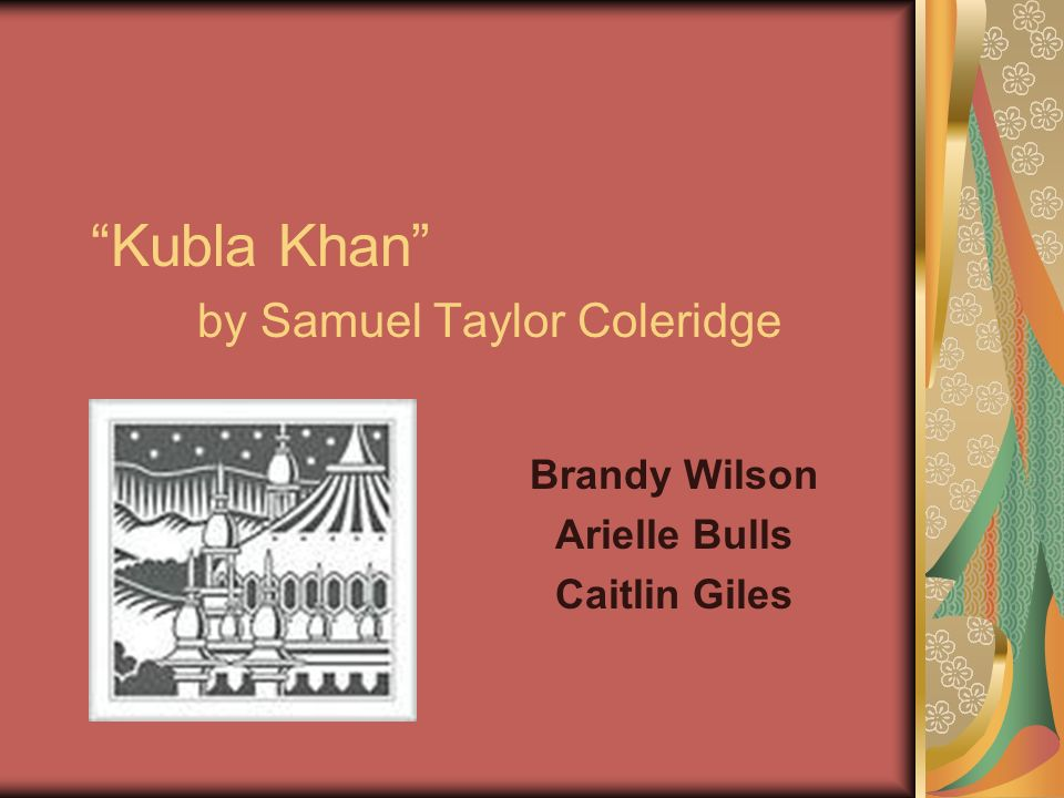 kubla khan by samuel taylor coleridge essay