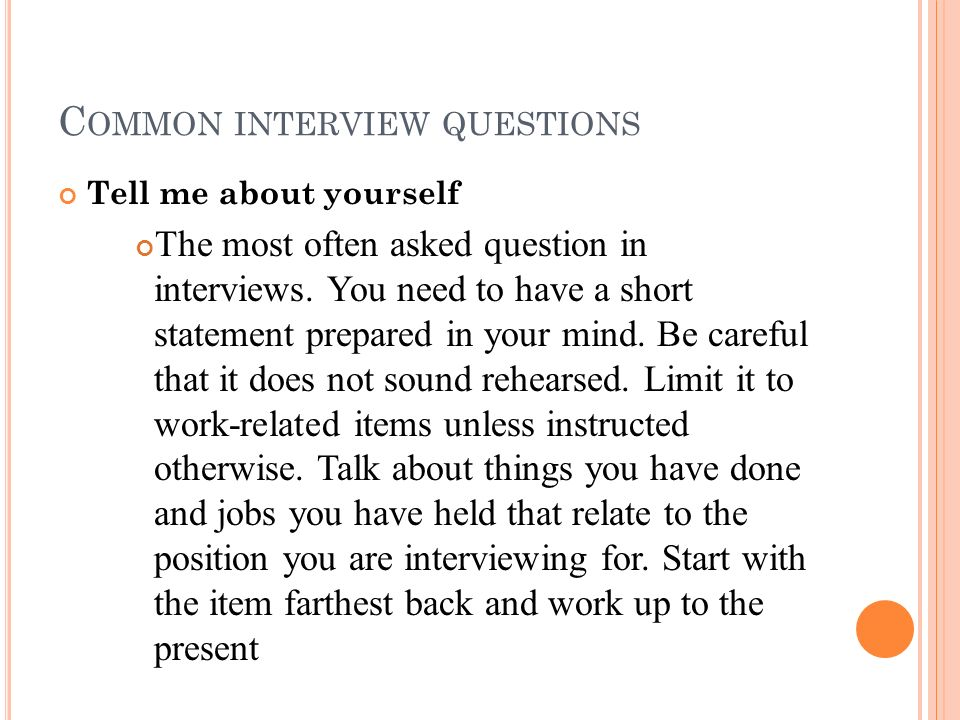 Lovely Most Common Interview Questions  Common Interview Questions