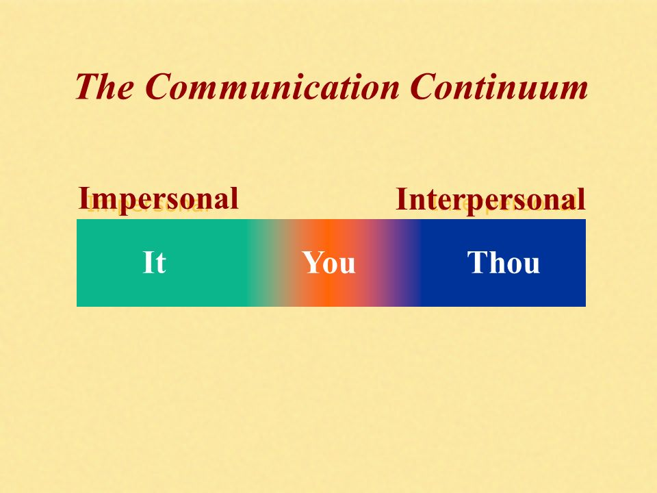 What Is the Content for an Impersonal Communication?