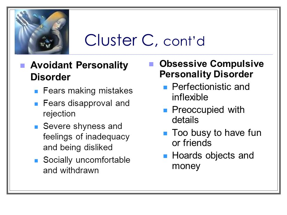 cluster c personality disorders pdf