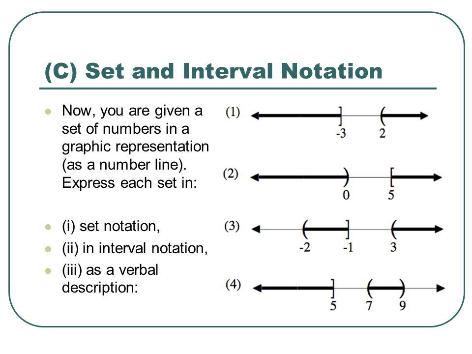 Lesson 1 Number Sets Set Notation ppt download – Interval Notation Worksheet