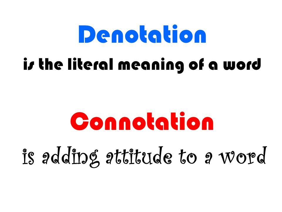 Denotation And Connotation Gidiyedformapolitica